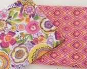 A B Coordinating Floral Quilting Cotton Fabric, Shabby Chick Flower Cotton Fabric - 1/2 yard