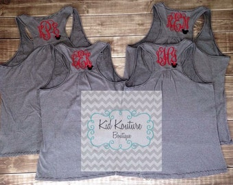 Monogrammed Minnie Mouse tank