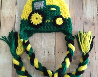 Crochet Pattern For John Deere Afghan : John deere crocheted Etsy