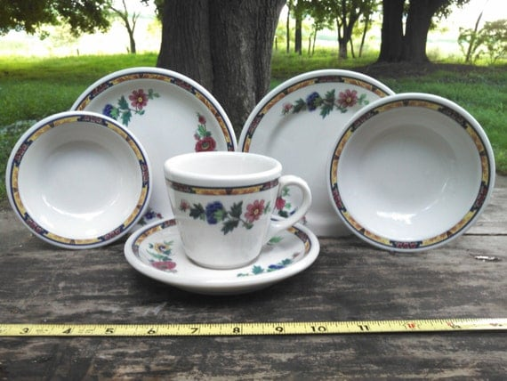Syracuse China Dewitt Clinton Pattern Hotel Restaurant Vintage