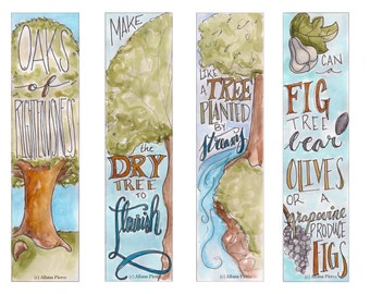 Tree Themed Bible Bookmark / Bible Journal Tag **INSTANT DOWNLOAD**
