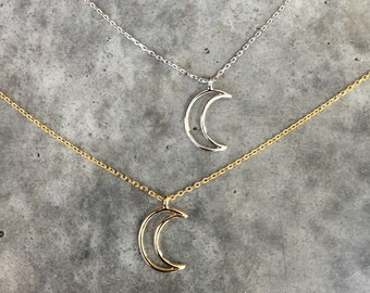 Moon necklace, choker necklace