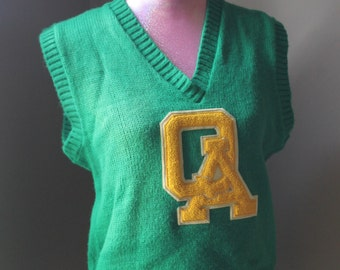 Vintage QA Knit Cheerleader Vest by Fashions by Diane Wisconsin