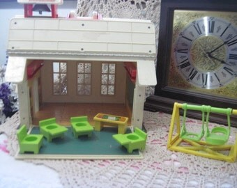Fisher Price Little People School House with some accessory's /NOT INCLUDED In Any Discount or Couon Sales :)S