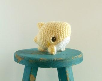 Lemon Ice the Baby Crochet Shark