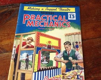 1957 Mechanics Magazine, Mid Century Practical Mechanics Monthly Magazine, London