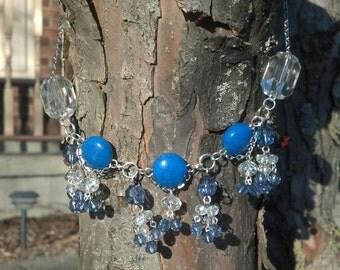 Blue Elegance beaded necklace