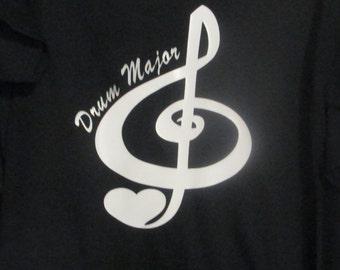 Treble Clef Drum Major T-shirt, Drum Major T-shirt