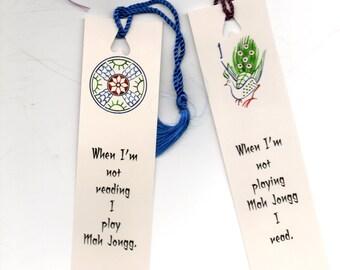 Mah Jongg Book-Lovers Book Mark
