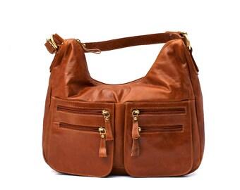 On Sale - A Beautiful simple leather Hobo bag