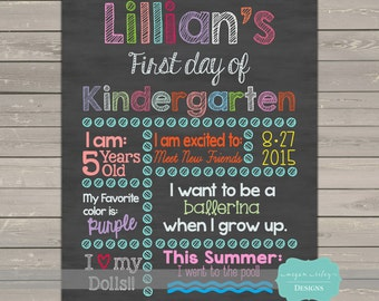 First Day of School Sign / 1st Day fo School/ Back to School / Printable Chalkboard Poster