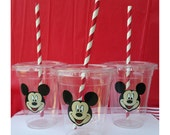 Set of 12 - Mickey Mouse Party Cups, Minnie Mouse Party Cups, Mickey Mouse Tableware , Mickey Decorations