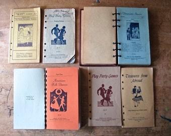 Vintage Dance Book, Dance Lessons, Old Books Online, Dance Booklet, Antique Book, Dance Instruction, Party Games,  Square Dance, 1930's