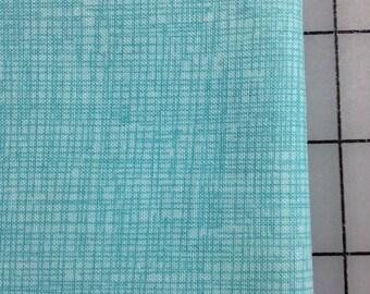 Timeless Treasures-Crosshatch Sketch in Aqua - Fat Quarter - C8224- 100% cotton