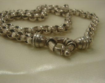 "Sterling Chain Necklace - 2 ounces- 60.4 grms, 17"" long 1305"