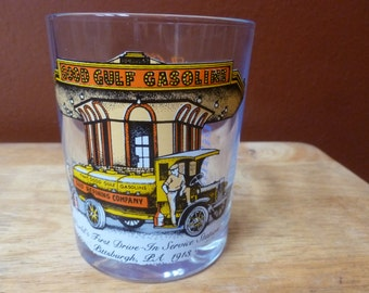 Vtg Good Gulf Gasoline Glass limited edition