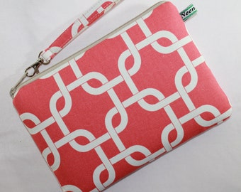 Coral iPad mini Padded  Case / eReader cover Sleeve Purse Geometric Padded case