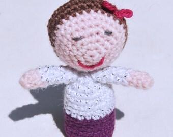 Handmade crocheted finger puppet