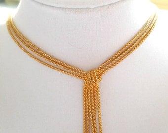 Vintage Tassel Necklace Vermeil JCM Peru