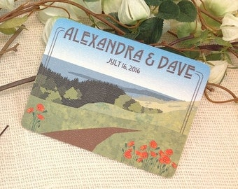 California Hills with Poppies Save The Date Postcard: Get Started Deposit or DIY Payment