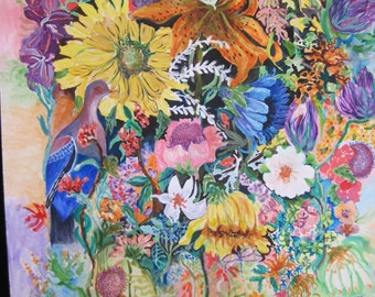 "An art print called ""Random Flowers"" from watercolorist Tina Woodruff"