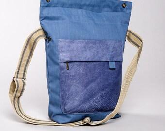 Blue, Canvas Crossbody Bag, Handbag, Shoulder Bag, Crossbody Bag
