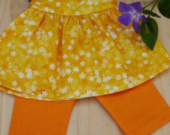 "Doll dress, Waldorf doll, 14"", 16"", yellow"