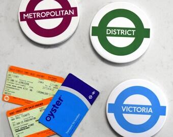 London Underground Tube Line Drinks Coaster