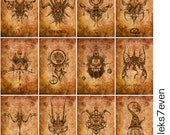 all 12 zodiac prints