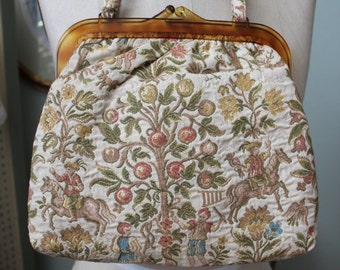 1950s Bakelite and Tapestry Purse
