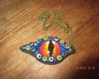 Large Handmade  Dragon Eye Pendant