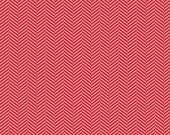 "Riley Blake Designs ""Apple of My Eye"" by The Quilted Fish - Herringbone Red - 1/2 yard"