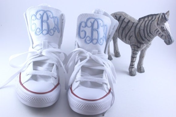 Kids Monogrammed High/Low Top Converse Shoes