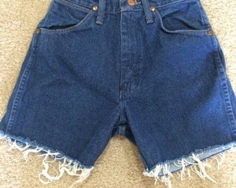 Vintage Cut Off Wrangler Denim Shorts