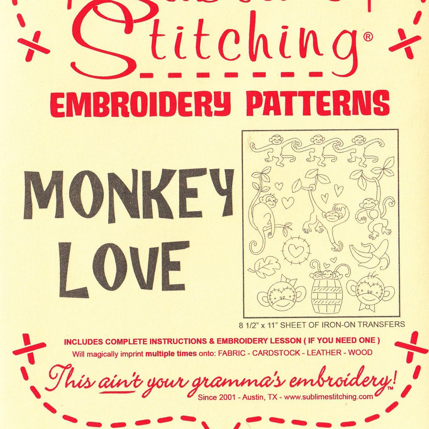 Sublime stitching embroidery patterns cute hand