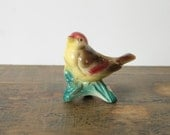 Reserved for Linda- Vintage Royal Copley Bird Planter Kinglet