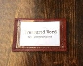 Leather Wallet for Scripture Memory Cards - 3x5 size