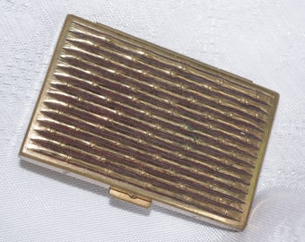 Vintage Powder / Rouge Compact: Avon Gold Bamboo 1940s