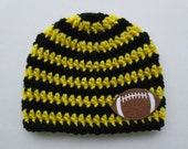 Pittsburgh Steelers Baby, Pittsburgh Steelers, Steelers Baby, Pittsburgh Steelers Hat, Steelers Hat, Football Baby Hat, Photo Props