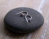Silver Keeper Hoop Earrings - Sterling Silver Keeper Studs - Small Earrings - Sterling Silver Recycled