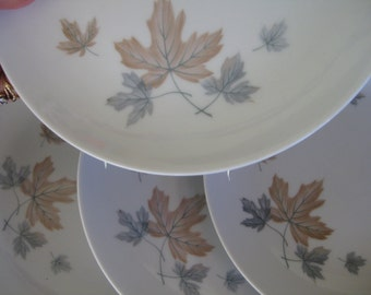 Noritake Maplewood Salad plates, Retro, Maplewood, Cookin Serve discontinued, Very good Two sets of 4 are available