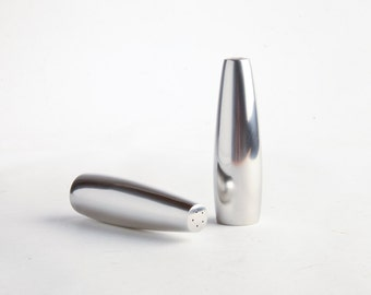 Dansk Mid-Century Modern Odin salt and pepper shakers – Jens Quistgaard Danish Modern design stainless steel shakers