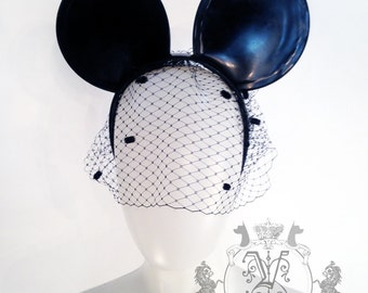 Latex Rubber Micky Mouse Ears on a headband made By Vex Latex