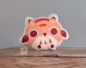 Peach Owl Cushion