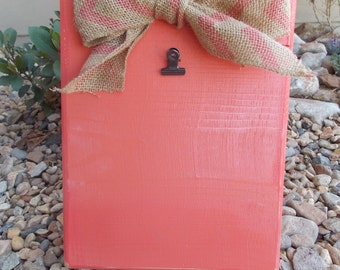 Coral Shabby Chic picture stand