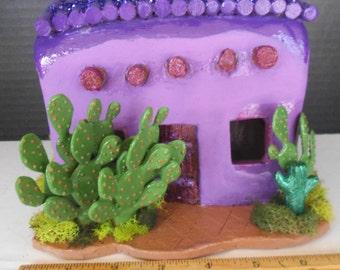 Enchanting ....Bright Purple Fairy House in the Desert...Fantasy....OOAK