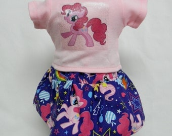My Little Pony Pinkie Pie (Style A) Theme Outfit  For 18 Inch Doll Like The American Girl