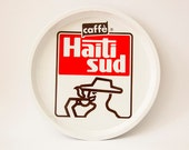 Vintage Italian TRAY Retro tin Caffè Haiti Sud
