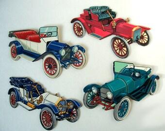 Vintage Die Cut old Cars Automobile (24)