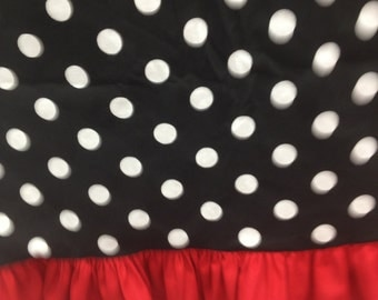 """60"""" Round Ruffle Birthday Party Tablecloth, Any Color Just Ask"""